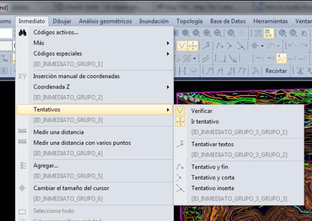 Captura de pantalla en la que se muestran los menús nativos de Digi3D 2011