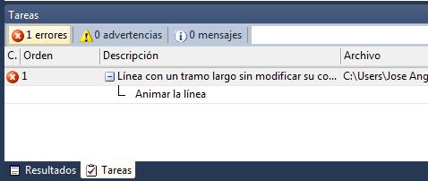 Captura de pantalla del panel de tareas con una tarea con subtareas