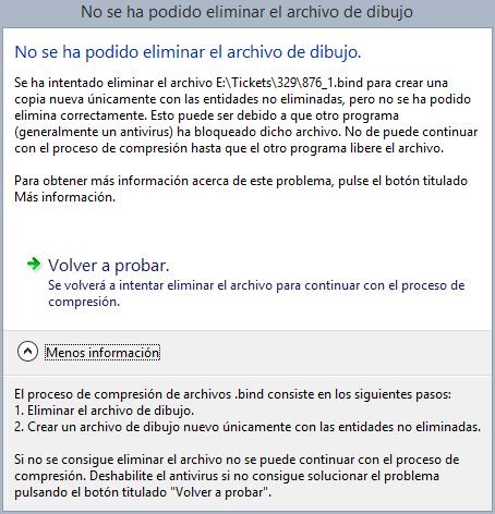 TaskDialog mostrando error al comprimir (no se pudo eliminar archivo)